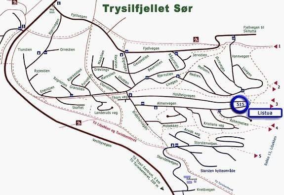 trysilfjellet sør kart Listua : Trysilhyttene.no trysilfjellet sør kart
